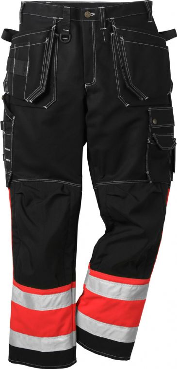 Fristads High Vis Craftsman Trousers CL 1 247 FAS (Hi Vis Red/Black)